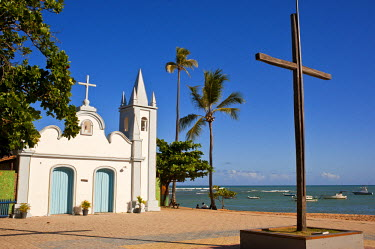 HMS0797476 Brazil, Bahia State, Praia do Forte, seaside resort, the chapel of St. Francis of Assisi