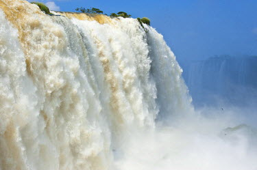 HMS0797164 Brazil, Parana state, Foz do Iguacu, Iguazu Falls, listed as World Heritage by UNESCO, the Devil's throat (Garganta del Diablo), the 80m high Salto Union
