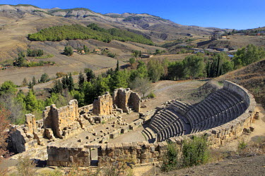 AG01014 Roman Theater, Ruins of ancient city Cuicul, Djemila, Setif Province, Algeria