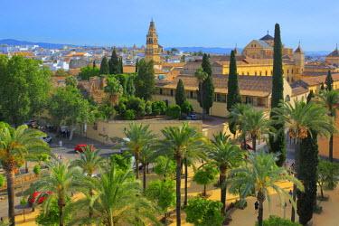 ES07043 Cityscape from Alcazar of the Christian Kings (Alcazar de los Reyes Cristianos), Cordoba, Andalusia, Spain