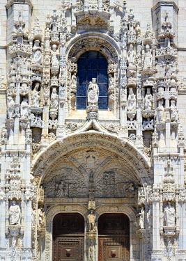 PT01299 Jeronimos monastery (Hieronymites Monastery), South portal of Church of Santa Maria, Lisbon, Portugal