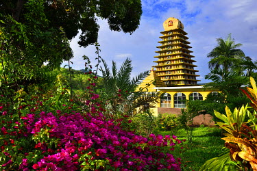 MTS0005AW Hindu Temple at Chamarel, Mauritius, Indian Ocean