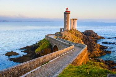 FRA8580AW Brittany, France. Petit Minou lighthouse.