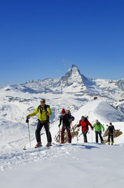 Ski tour to the stockhorn, Zermatt, Valais, Switzerland