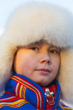 SWE4148 Arctic Circle, Lapland, Scandinavia, Sweden, Jokkmokk, ethnic Sami people at winter festival