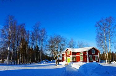 SWE4173 Arctic Circle, Lapland, Scandinavia, Sweden, Lulea, Gamelstad, open air museum, Unesco World Heritage site