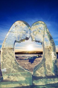 SWE4180 Arctic Circle, Lapland, Scandinavia, Sweden, Kiruna, Ice Hotel, ice sculpture