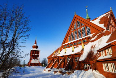 SWE4201 Arctic Circle, Lapland, Scandinavia, Sweden, Kiruna, Kiruna church