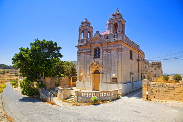MLT0489 Maltese Islands, Malta, Southern Europe. Church in the outskirts of a village.