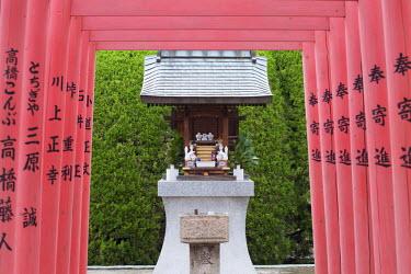 JAP0911AW Tori gates and shrine at Shokoji Temple, Hiroshima, Hiroshima Prefecture, Japan