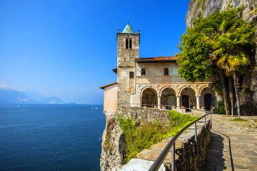 ITA4473AW Hermitage of Santa Caterina del Sasso, Lake Maggiore, Lombardy, Italy
