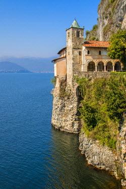 ITA4474AW Hermitage of Santa Caterina del Sasso, Lake Maggiore, Lombardy, Italy