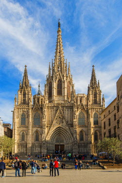 SPA6461AW The Cathedral of the Holy Cross and Saint Eulalia, Barcelona, Catalonia, Spain