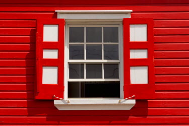 AB01078 Caribbean, Antigua, St. John's, Heritage Quay, Traditional shutters