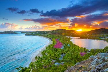 AB01087 Caribbean, Antigua, Galley Bay, Galley Bay Beach, Sunrise