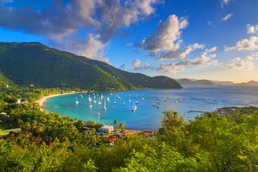 VG01120 Caribbean, British Virgin Islands, Tortola, Cane Garden Bay