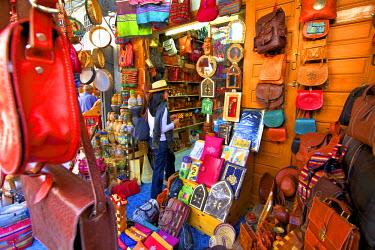 MC03075 Person In Tourist Shop, The Medina, Rabat, Morocco, North Africa