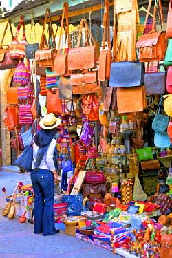 MC03079 Person In Tourist Shop, The Medina, Rabat, Morocco, North Africa