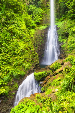 DOM0188AW Dominica, Laudat. Middleham Falls is the tallest waterfall in Dominica.