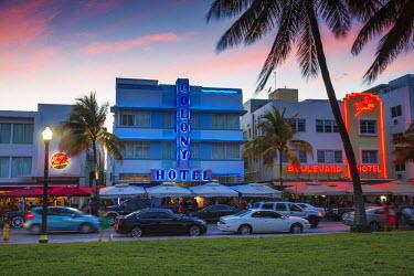 US11792 U.S.A, Miami, Miami Beach, South Beach, Art Deco Hotels on Ocean drive