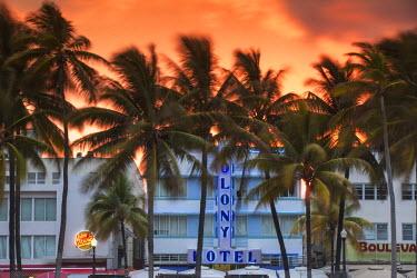US11783 U.S.A, Miami, Miami Beach, South Beach, Art Deco Hotels on Ocean drive