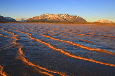 HMS0546952 Argentina, Patagonia, Santa Cruz province, Perito Moreno national park, mountain lake and mount Mie