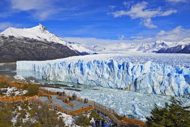 HMS2097180 Argentina, Patagonia, Santa Cruz, El Calafate, Perito Moreno glacier and seracs