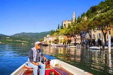 CH04126 The idyllic lakeside village of Vico Morcote, Lake Lugano, Ticino, Switzerland