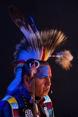 USA10100AW USA, Arizona, Tucson, Portrait of a Lakota man