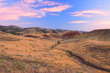 USA10150AW Painted Hills, John Day Fossil Beds National Monument, Oregon, USA