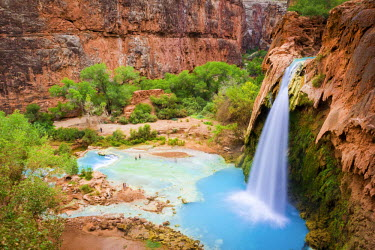 USA10298AW Havasu Falls, Havasupai Indian Reservation, Grand Canyon, Arizona, USA