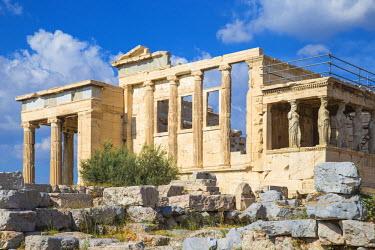 GR01299 Greece, Attica, Athens, The Acropolis, The Erechtheion, Porch of the Caryatids