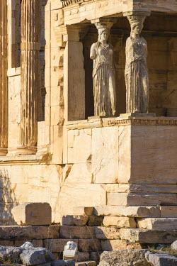 GR01313 Greece, Attica, Athens, The Acropolis, The Erechtheion, Porch of the Caryatids