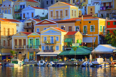 GR10142 Boats In Symi Harbour, Symi, Dodecanese, Greek Islands, Greece, Europe
