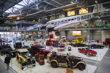DE05635 Germany, Rheinland-Pfalz, Speyer,Technik Museum Speyer, gallery with German Junkers JU-52 transport aircraft of the 1930s-era