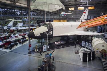DE05636 Germany, Rheinland-Pfalz, Speyer,Technik Museum Speyer, last surviving example of the Soviet space shuttle, Buran