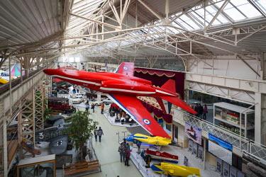 DE05641 Germany, Rheinland-Pfalz, Speyer,Technik Museum Speyer, aviation and technology display gallery, British Folland Gnat jet trainer