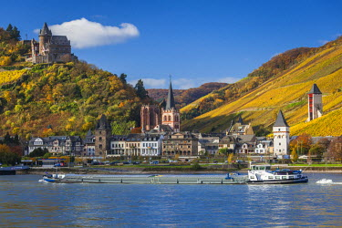 DE05700 Germany, Rheinland-Pfalz, Bacharach, town view, autumn