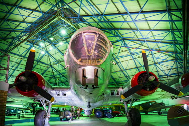 UK10958 England, London-Hendon, RAF Museum London, Bomber Gallery, WW2-era US-built B-17G Flying Fortress bomber