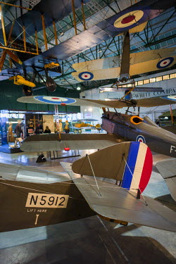 UK10959 England, London-Hendon, RAF Museum London, The Grahame-White Factory Gallery of WW1-era aviation