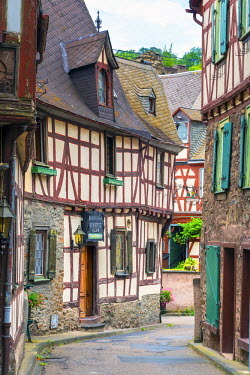DE05746 Germany, Rhineland Palatinate, Braubach, Traditional Timber-framed buildings