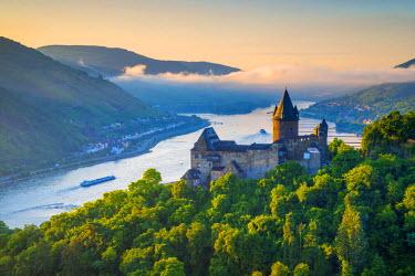 DE05762 Germany, Rhineland Palatinate, Bacharach, Burg Stahleck (Stahleck Castle), River Rhine