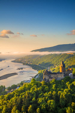 DE05763 Germany, Rhineland Palatinate, Bacharach, Burg Stahleck (Stahleck Castle), River Rhine