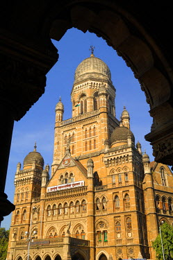 HMS0177453 India, Maharashtra state, Mumbai (Bombay), Bombay Municipal Corporation Building in the Victoria railway station district