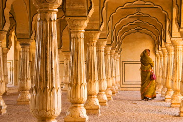HMS0219934 India, Rajasthan state, hill fort of Rajasthan listed as World Heritage by UNESCO, near Jaipur, Amber, Amber Fort built in 1592