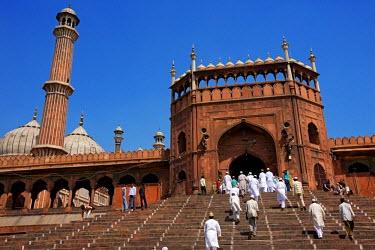 HMS0259543 India, Delhi, Jama Masjid Mosque