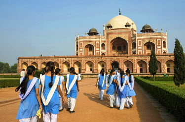 HMS0331844 India, Delhi, Mughal Emperor Humayun's Tomb of the 16th century listed as World Heritage by UNESCO