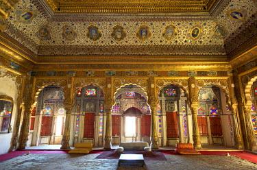 HMS0344979 India, Rajasthan State, Jodhpur, Mehrangarh Fort, Shish Mahal