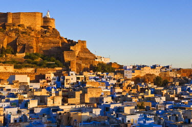 HMS0345000 India, Rajasthan State, Jodhpur, Mehrangarh Fort and old town