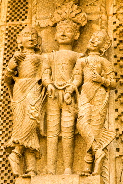 HMS0443286 India, Madhya Pradesh State, Maheshwar, sculpture detail of Siva temple